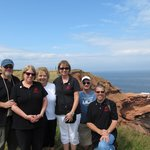 on the cliffs of PEI