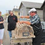 Bill Murray giving Lobster trap info