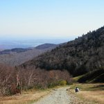 walking down Jay Mountain