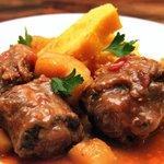 Rabada com polenta . O prato do chef Tóninho que fez Ana Maria Braga  passar por baixo da mesa.