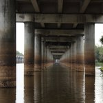 Riding under the bridge
