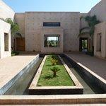 Hotel entrance courtyard