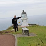 Cape Reinga lighthouse with a helping hand!