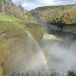 Rainbow by the falls