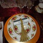 elegant table ware at breakfast