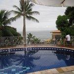 piscina com vista por sol