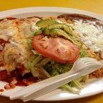 Grilled chicken enchiladas, costs about 9 $