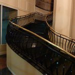 "the ""Grand"" staircase in the lobby"