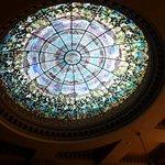 Tiffany glass dome