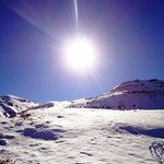 Lindo sol na neve