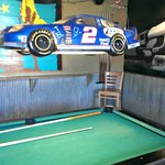 Nascar light above the pool table
