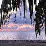 sunrise from beach area