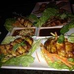 Chicken lettuce wrap appetizer.