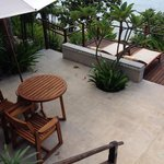 View from beachside villa  - the balcony, perfect for morning meditation