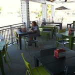 outdoor seating too...