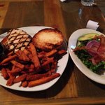 Grilled Chicken Teriyaki with Sweet Potato Fries
