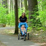 On the trails at Hartwick Pines Park