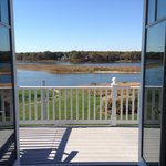 View from dune road room with French doors open