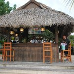Bar on beach next to Stewfish