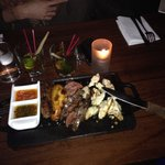 Chorizo, empenada, beef, chicken