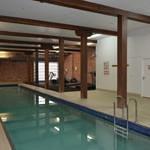 Heated pool, sauna and gym area