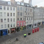 View from front bedroom/living room onto the Royal Mile