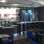 Cafe area with delicious foods