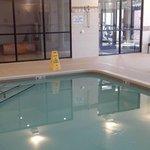 Pool area, not large but definitely adequate