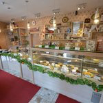 The inside of pastry shop