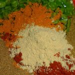 Spice mix used to make Indian Burgers.