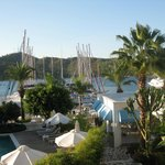 View from room across marina