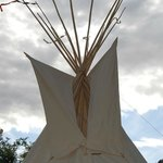 top of the tipi, very pretty