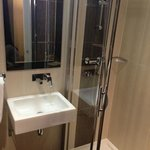 Shower is very good, hard water flow which we like
