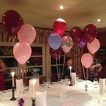 Table decorated for the party