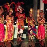 Balinese dancers ( entertainment at Donbiu Restuarant)