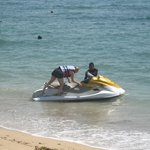 Jetski hire out front of Besakih
