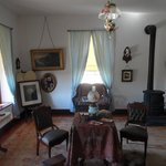 The parlour in one of the married officers quarters