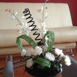 The flower arangements were perfect