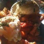 Lobster Benedict--2 Cats, Bar Harbor, Maine