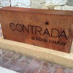 "The sign:  It's the ""Contrada"", not ""Gordon Ramsey..."""