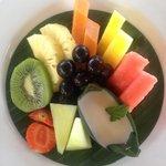 Breakfast. Fresh fruit.