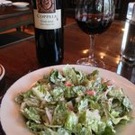 Great salad. Super Tuscan wine