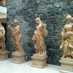 Statues in Main Reception Area