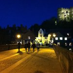 Crossing over Framwell Bridge in the evening