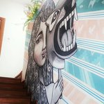 Mural arts all over the hostel. Love it ♡