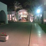 Walking toward the reception area
