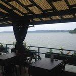 Blick vom Red Rooster Cafe im Hotel