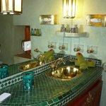 salle de bain suite verte