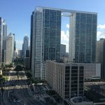 Views of Miami Brickell from pool deck