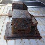 Vents on porch, rusty & dangerous!
